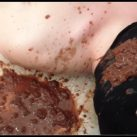 Explosive Diarrhea on the Face and Mouth of Alina's Toilet Slave [Scat, pissing, shit, defecation, Femdom ,Toilet Slavery, Domination, Eat shit]