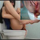 Menstruation first day [Scat solo, shit, defecation, Masturbation, Dirty Ass, Menstrual blood]