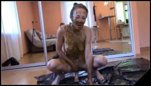Passion, desire and lust for my shit [Scat Lesbians,  shit, defecation,Toilet Slavery, Domination,Smearing, shit eating , Licking,Dildo masturbation]