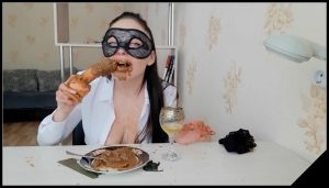 ScatLina – The Day Of Shitty Secretary. Lunch. Part 2 [Scat solo, shit, defecation, Pissing,  Masturbation, Smearing,shit eating,Dildos,piss drinking]