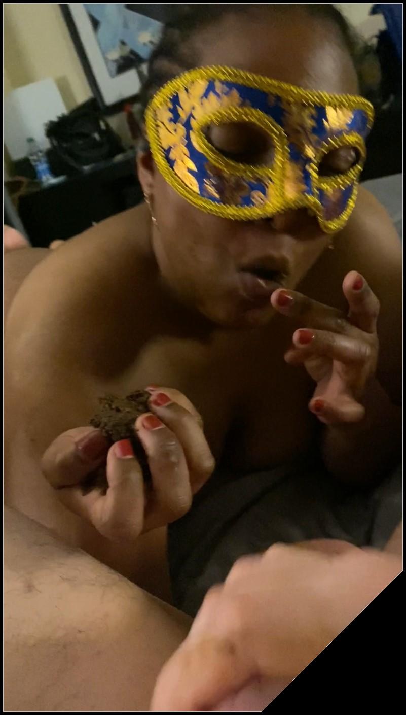 Yuna Silva gorges on mouthfuls of shit while sucking her masters asshole Scat sex shit sex shit Licking Blowjob Handjoshit eating cover - Yuna Silva gorges on mouthfuls of shit while sucking her masters asshole [Scat sex, shit sex, shit,  Licking, Blowjob, Handjo,shit eating]
